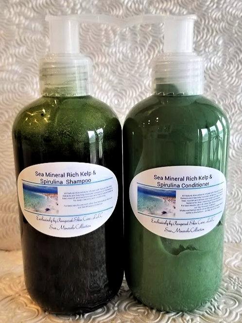 Sea Minerals Rich Kelp & Spirulina Shampoo/Conditioner Set