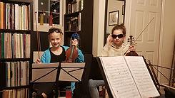 Chamber music rehearsal