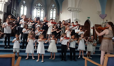End of year concert performance