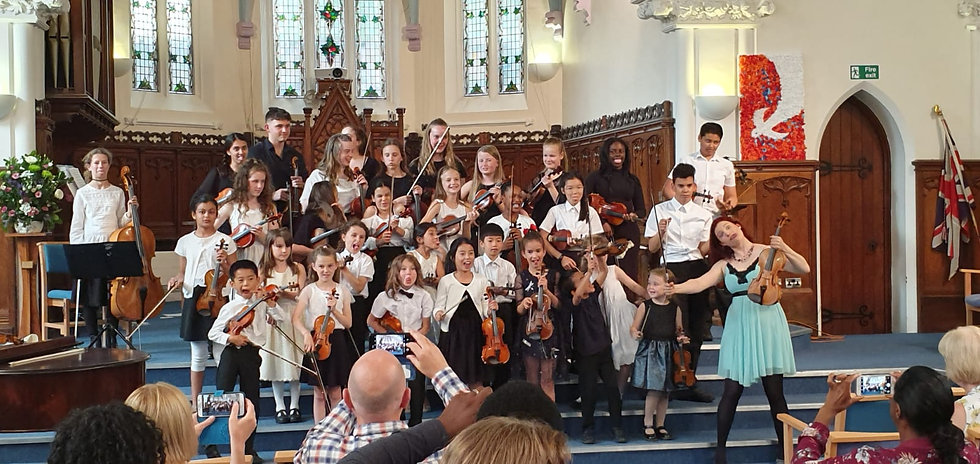 NBSS pupils End of year concert