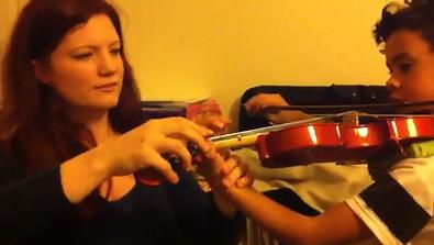 Verena teaching finger placement