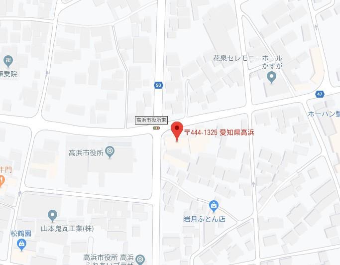 エイブルネットワーク高浜市役所前店地図