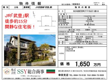 【NEW】武豊町の土地情報でございます。