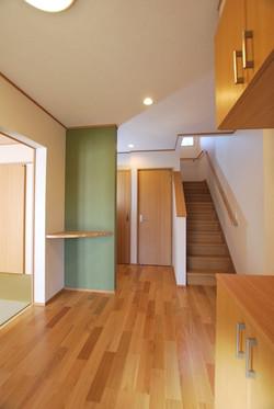 配色が素敵な玄関