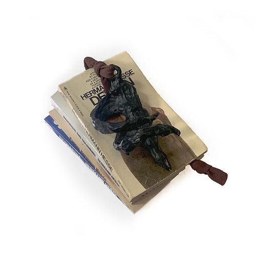 Figural Bronze Book Weight