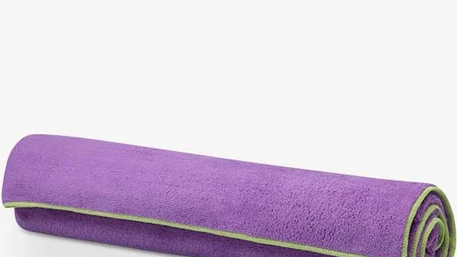 Yoga Stay-Put Mat Towel, One Size Purple