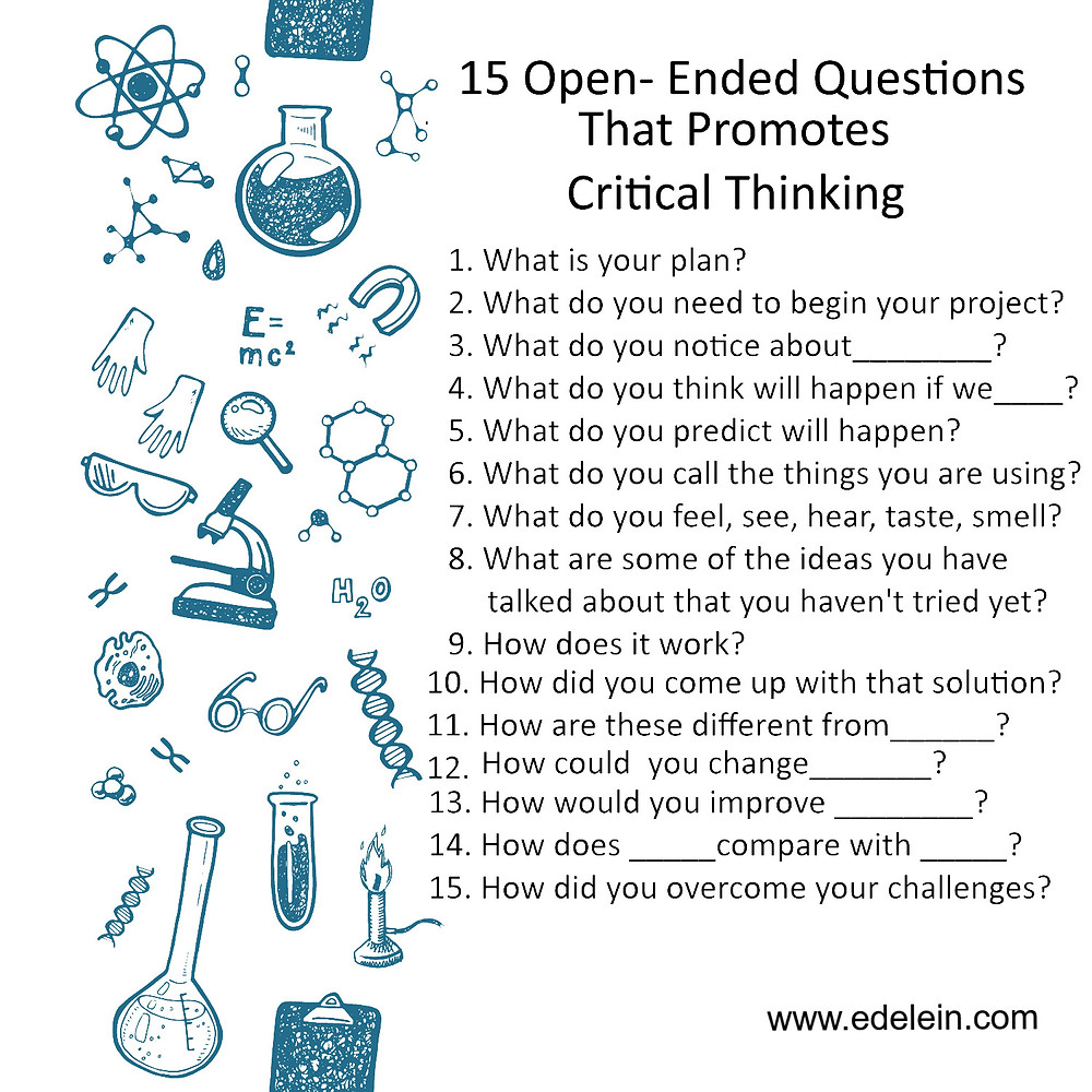STEM, STEAM, Open-Ended Questions for Kids to Promote Critical Thinking