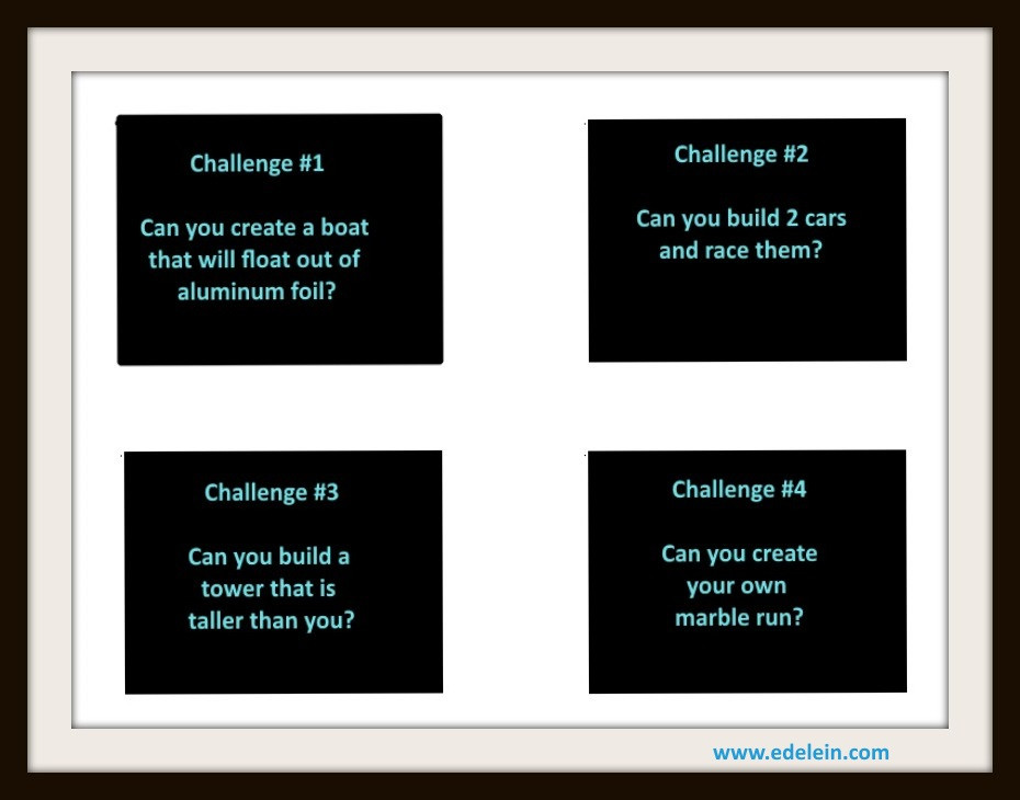 Tinkering Challenge Cards