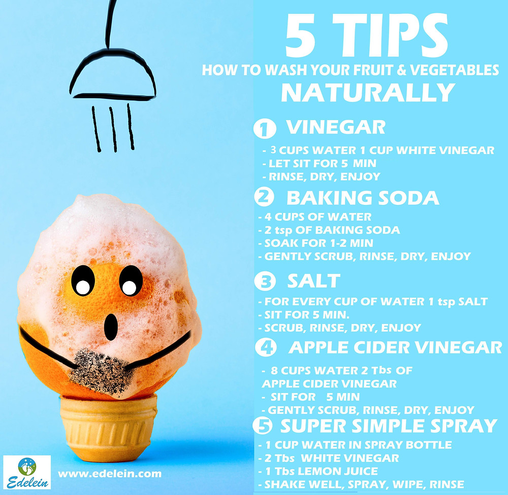 5 TIPS HOW TO WASH YOUR FRUIT & VEGETABLES NATURALLY