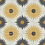 "Thumbnail: Kotka Cement tiles in 8""x8"" yellow/silver/mustard/white. Prices are Per Square F"