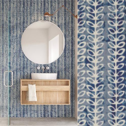 "Batik  Glass Collection in Blue Flora  6""x12"". Prices are Per Square Foot"