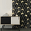 "Thumbnail: Fairmont Hex, Black Marble and Brass, 4"". Prices are Per Square Foot"