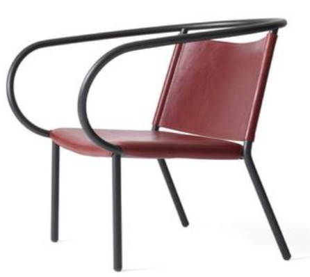 Afterroom Chair - burgundy leather