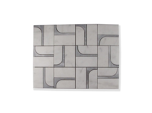 Lure Marble Tile in Polished Grey and White.  Prices are Per Square Foot .