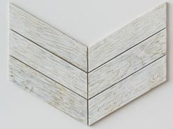 Chevron Teak Tile in White. Prices are Per Square Foot
