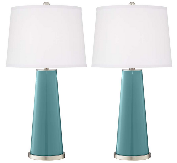 blue glass lamps