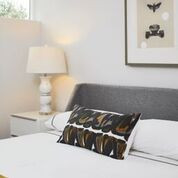 Nook Bed, Marble Lamp, White Bedside Tab