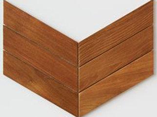Chevron Teak Tile in Natural. Prices are Per Square Foot