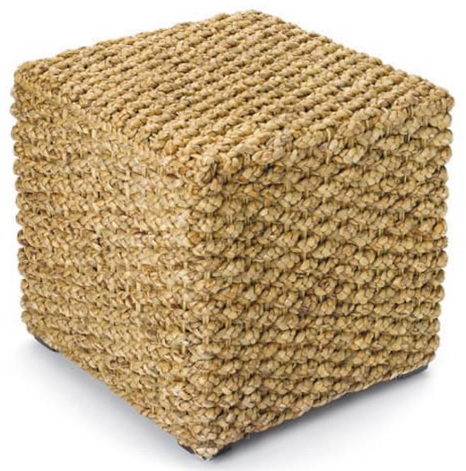 rattan pouf