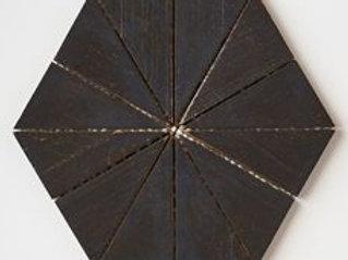 Hex Teak Tile in Black. Prices are Per Square Foot