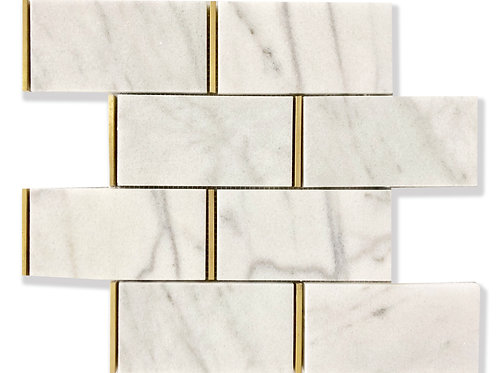 "Fairmont Subway Marble Tiles in 3""x 6"". Prices are Per Square Foot"