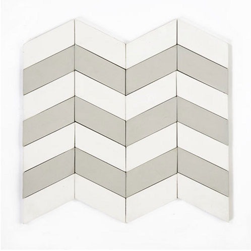 """Cement Tile in Long Chevron 3.25"""" x 1 3/8"""". Prices are Per Square Foot"""