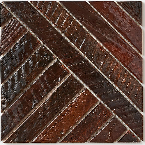 """Frank Teak Tile in Patina Resin Coated 8""""x8"""". Prices are Per Square Foot"""