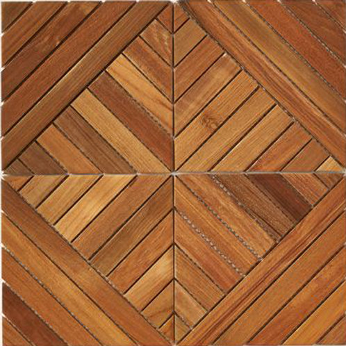 Frank Teak Tile in Natural. Prices are Per Square Foot.