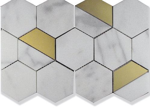 "Fairmont Hex Marble Tiles 4"". Prices per Square Foot"