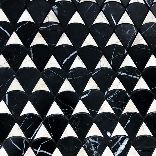 Modern Scale Black Honed and Desert Cream Honed. Prices are Per Square Foot
