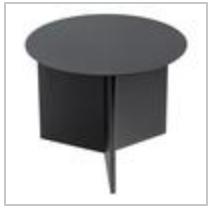 slit table black