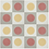 "Thumbnail: Malmo Cement Tile in 8""x8"" rose/white/yellow/grey. Prices are Per Square Foot"