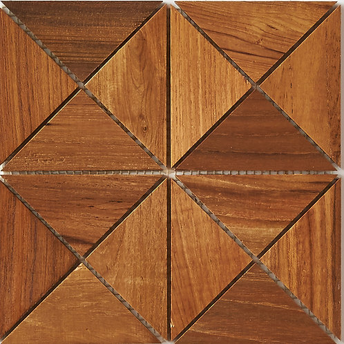 "Emma Teak Tile in Natural 8""x8"". Prices are Per Square Foot"
