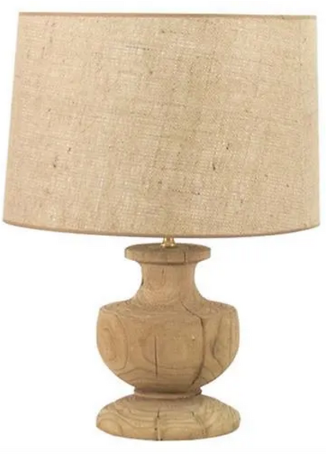wood turned lamp