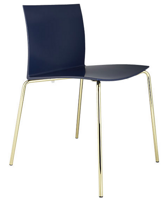 navy and brass chairs