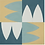 "Thumbnail: Aarhaus Cement Tile in 8""x8"" yellow/aqua/white/teal. Prices are Per Square Foot"