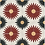 """Thumbnail: Kotka Cement tile in 8""""x8""""  coral/white/black/yellow. Prices are Per Square Foot"""