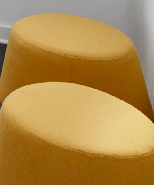 yellow pouf