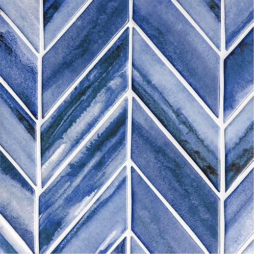 "Scape Collection in Mist Herringbone 2""x6"". Prices are Per Square Foot"