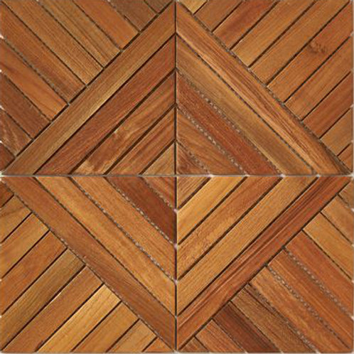 Frank Teak Tile in Natural. Prices are Per Square Foot