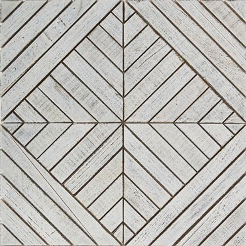 Frank Teak Tile in White.  Prices are Per Square Foot.
