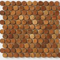 Penny Round in Teak Tile Patina. Prices are Per Square Foot