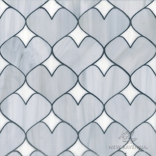 Heart Mosaic with Love. Prices are Per Square Foot.