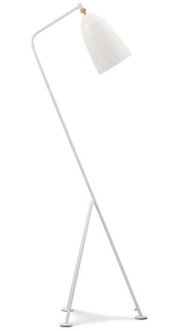white grasshopper lamp