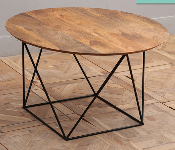 small wood cocktail table