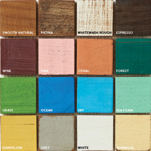 Teak Tile Color options for Custom Tiles. Prices are Per Square Foot