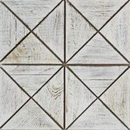 Emma Teak Tile in White. Prices are Per Square Foot