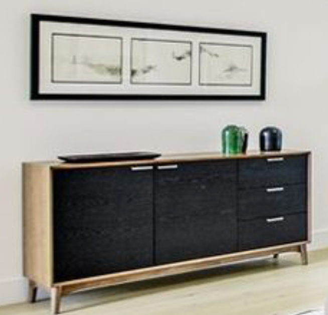 black and wood cabinet