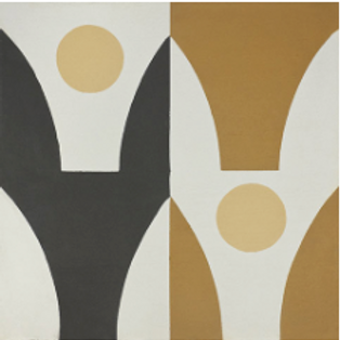 """Stockholm Cement Tile in 8""""x8"""". caramel/yellow/white/black. Prices are Per Squar"""