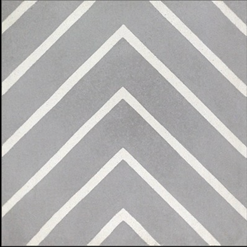 """Cement Tile in Linear Grey 8""""x8"""". Prices are Per Square Foot"""
